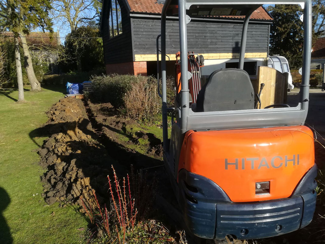 Mini Digger Hire in Ipswich and Suffolk - BDA Earthmoving